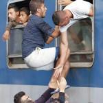 القطار واللاجئين