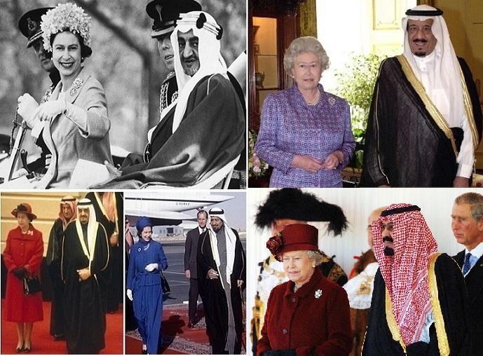 الملكة اليزابيث والحكام العرب