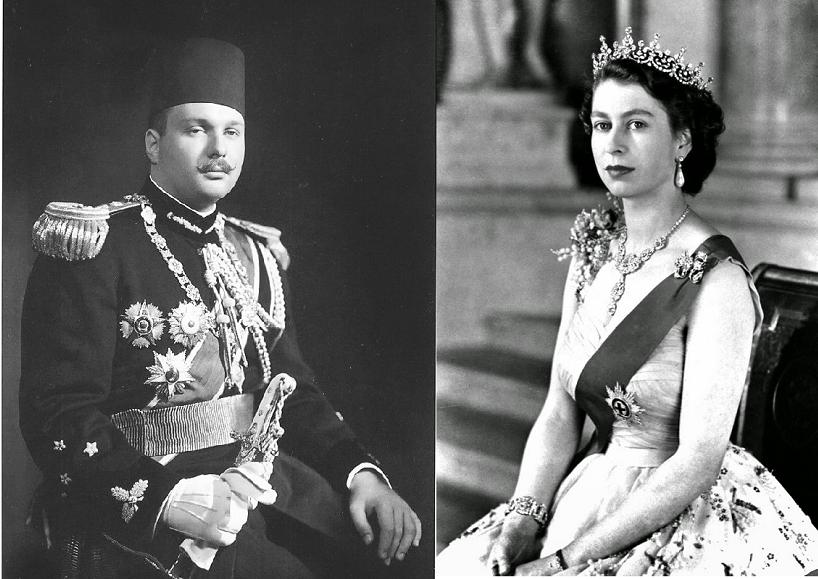 الملكة اليزابيث والملك فاروق