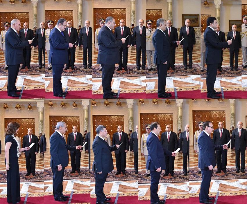 حكومة شريف اسماعيل تؤدى اليمين الدستورية امام السيسى