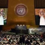شاكيرا تغنى فى الامم المتحدة