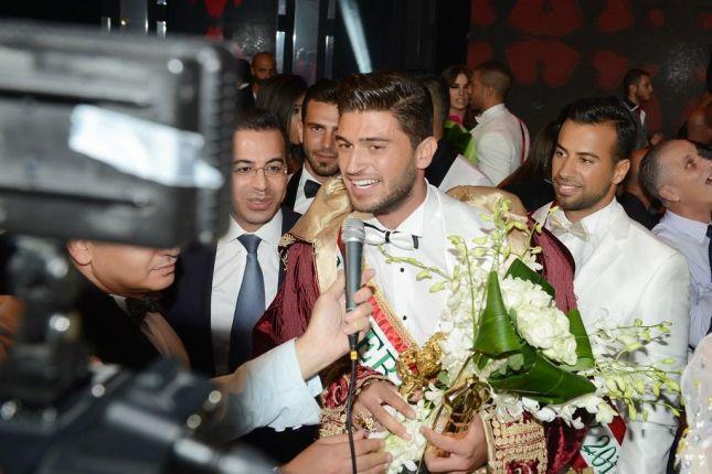 فريد مطر ملك جمال لبنان يتحدث للصحفيين