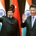 الرئيس الصينى شى جين بينج ورئيس وزراء الهند ناريندرا مودى