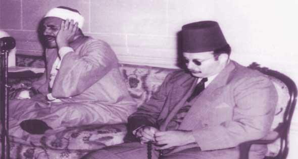 الشيخ طه الفشنى والملك فاروق