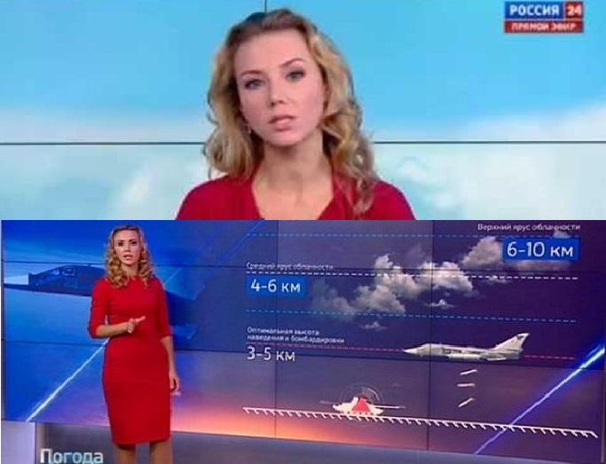 المذيعة الروسية الحسناء