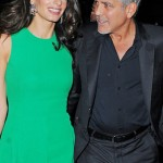 NEW YORK - SEPTEMBER 29: George Clooney and Amal Clooney seen entering the Viceroy in Mid-Town Manhattan on September 29, 2015 in New York, New York.  (Photo by Josiah Kamau/BuzzFoto via Getty Images)