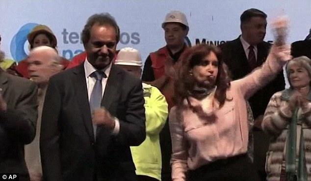 رقصة رئيسة الارجنتين