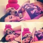 سوزانا ابنة بيسيرو  برفقة كلبها