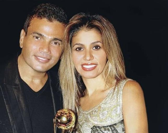عمرو دياب وزوجتة الثانية