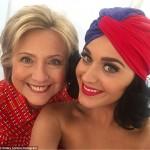 كاتى بيرى تدعم هيلارى كلينتون