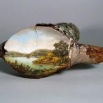لوحات على جذوع الاشجار  8