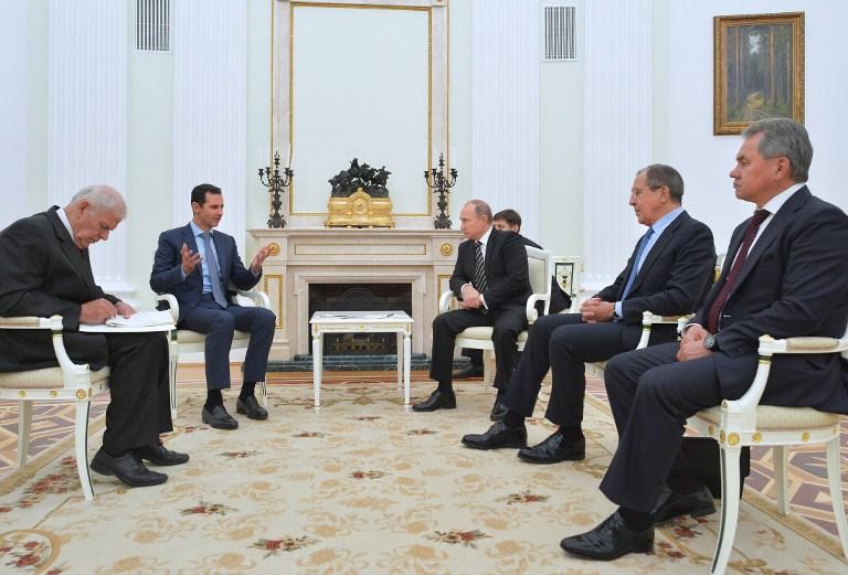 مباحثات بوتين و بشار الاسد