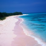 The aptly named Pink Sand Beach of Harbour Island.