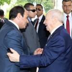 السيسى يستقبل الرئيس التونسى بقصر الاتحادية