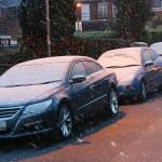 الثلوج على السيارات