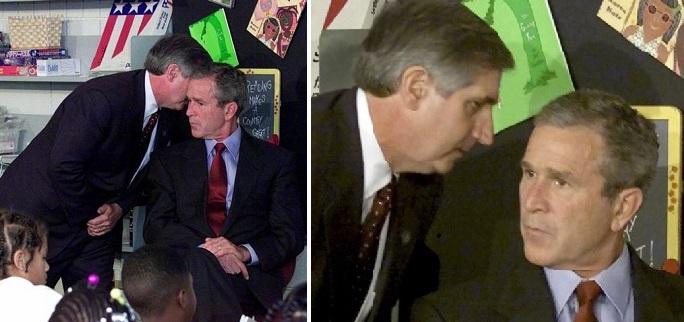 الذهول على وجه بوش