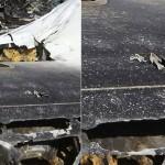 صور تفجير الطائرة بقنبلة