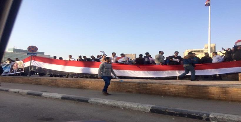 مظاهرة حملة الماجستير فى التحرير