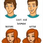 الفوارق بين الرجل و المرأة - تصفيف الشعر