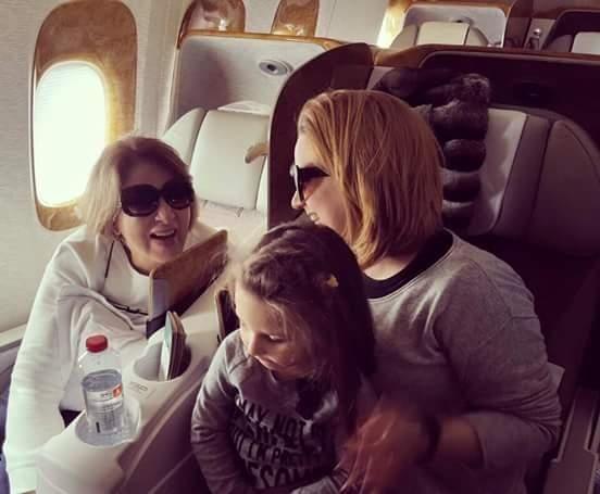 بوسى داخل الطائرة