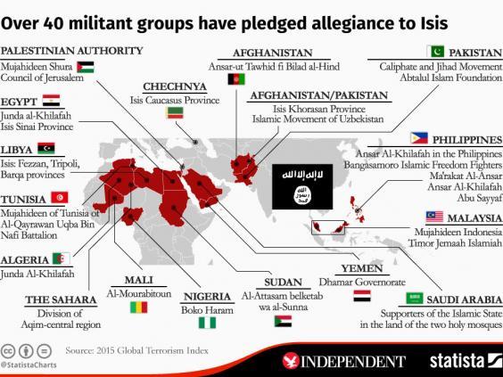 خريطة الارهاب فى العالم