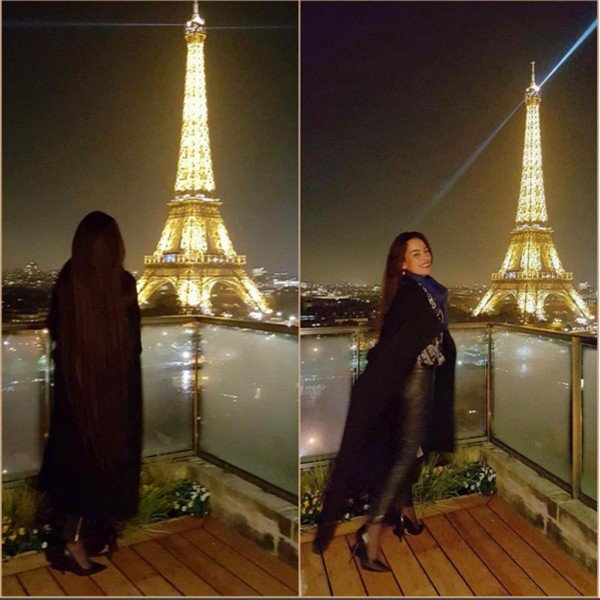 صورة شريهان امام برج ايفل