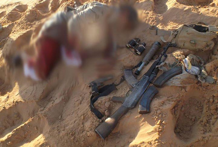 صور مقتل ارهابى بسيناء