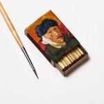 لوحات فان جوخ على علب الكبريت