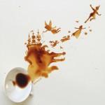 لوحات مذهلة من بقايا القهوة