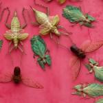لوحة حديقة منتصف الليل المصنوعة من الحشرات