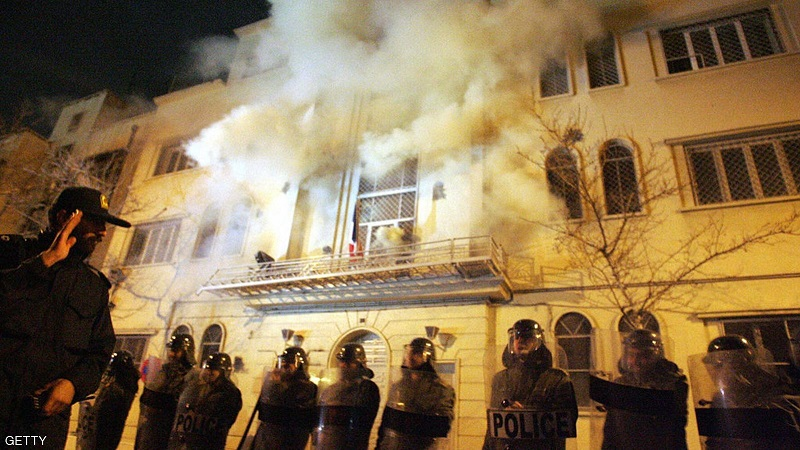 احراق السفارة الفرنسية 2006