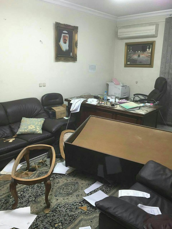 اعتداءات على السفارة السعودية بايران