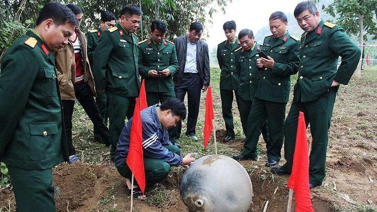 الكرات المعدنية التى سقطت فى فيتنام