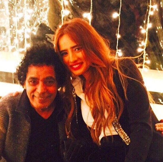 زينة ومحمد منير