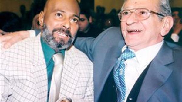 عبد الله محمود مع يوسف شاهين