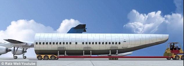 كبسولة تنفصل عن الطائرة