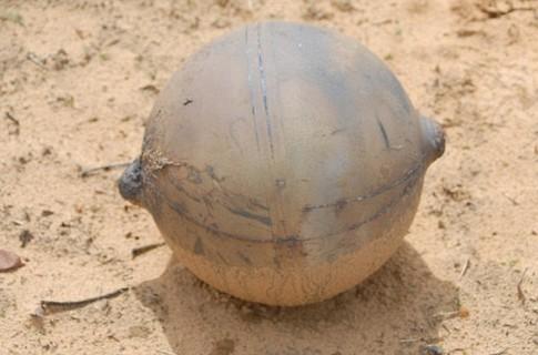 كرة معدنية سقطت فى جنوب افريقيا