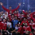 احتفال منتخب مصر لليد بكاس افريقيا
