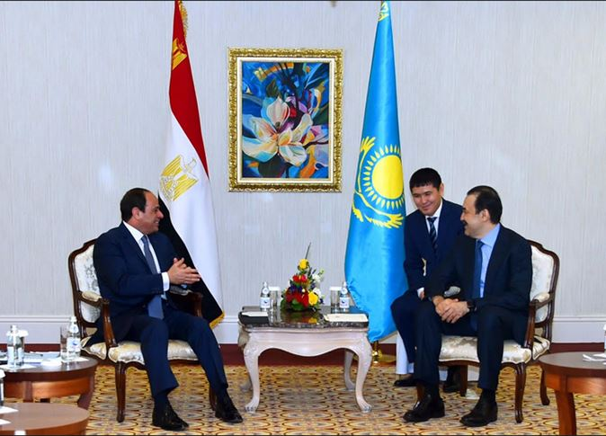 السيسى ورئيس وزراء كازاخستان