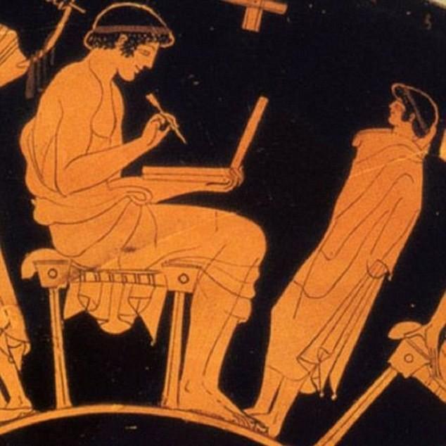 رسم يونانى قديم يثير الجدل حول معرفة الرومان للابتوب