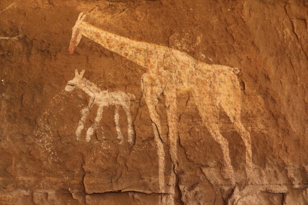 رسوم على جدران أكاكوس - ليبيا