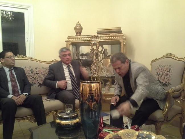 عكاشة و استقباله السفير الاسرائيلى