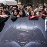 ابطال باتمان وسوبرمان فى العرض الخاص