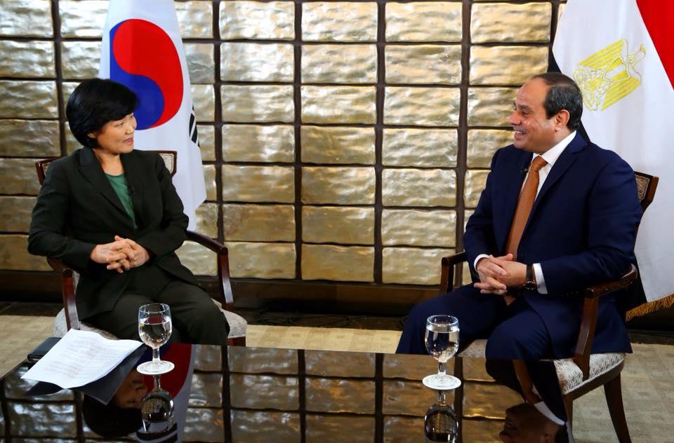 حوار السيسى فى كوريا الجنوبية