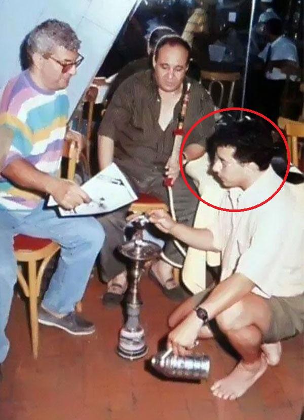 محمود سعد يرص حجر الشيشة لوحيد حامد