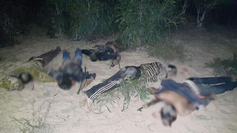 مقتل خمسة ارهابيين بالشيخ زويد