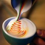 الرسم على القهوة بالالوان