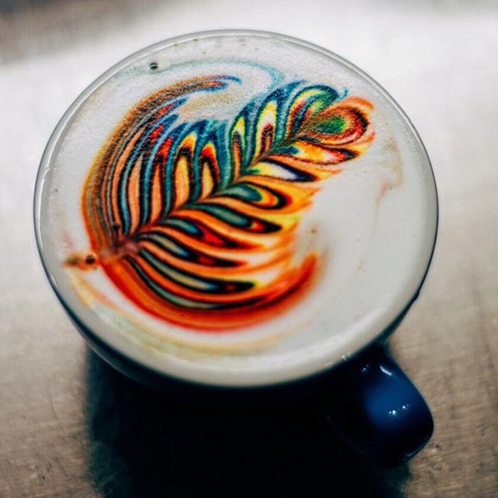 الرسم على القهوة