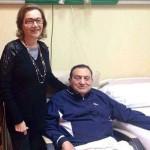 حسنى مبارك مع سوزان زوجته
