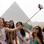 زيارة ملكات جمال العالم للاهرام